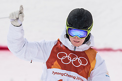 February 9, 2018 - Pyeongchang, South Korea - 180209 Walter Wallberg of Sweden celebrates after competing in the MenÃ•s Moguls Qualification during the 2018 Winter Olympics on February 9, 2018 in Pyeongchang..Photo: Petter Arvidson / BILDBYRN / kod PA / 91956 (Credit Image: © Petter Arvidson/Bildbyran via ZUMA Press)
