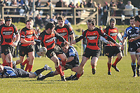 Castlebar's Ian McDonagh tries to stop Monivea's Kevin Higgins during the Junior Cup match...Pic Cnor McKeown