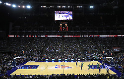 General view of play during the NBA London Game 2018 at the O2 Arena, London.