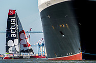 Actual, before the start of The Bridge 2017, a transatlantic race between the cruise liner RMS Queen Mary 2 and the world's fastest Ultim trimarans from Saint-Nazaire to New-York City on June 25, 2017 in Saint-Nazaire, France - Photo Vincent Curutchet / Dark Frame / ProSportsImages / DPPI