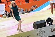 Nederlandse Olympische ploeg komt thuis en wordt gehuldigd op het plein voor Station Den Bosch.<br /> <br /> Op de foto:  Krystl