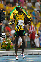 Athletics - IAAF World Championships 2013 - Stadium Loujniki , Moscow , RUSSIA - 10 to 18/08/2013 - Photo JULIEN CROSNIER / KMSP / DPPI - Day 2 - 11/08/13 - 100M Men - Usain Bolt (JAM) / Gold Medal