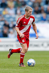 Grant Leadbitter of Middlesbrough in action - Photo mandatory by-line: Rogan Thomson/JMP - 07966 386802 - 13/09/2014 - SPORT - FOOTBALL - Huddersfield, England - The John Smith's Stadium - Huddersfield town v Middlesbrough - Sky Bet Championship.