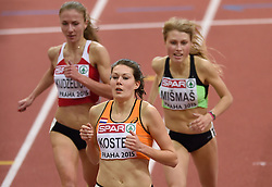 06-03-2015 CZE: European Athletics Indoor Championships, Prague<br /> Atlete Maureen Koster loopt zaterdag de finale van de 3000 meter bij de EK indoor in Praag