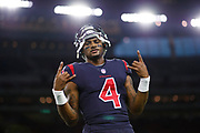 during an NFL football game \a on Thursday, Oct. 25, 2018, in Houston. The Texans defeated the Dolphins, 42-23. (Ryan Kang via AP)