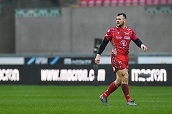 Ryan Conbeer of Scarlets<br /> <br /> Photographer Craig Thomas/Replay Images<br /> <br /> Guinness PRO14 Round 11 - Scarlets v Edinburgh - Saturday 15th February 2020 - Parc y Scarlets - Llanelli<br /> <br /> World Copyright © Replay Images . All rights reserved. info@replayimages.co.uk - http://replayimages.co.uk