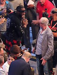 Deontay Wilder meets Paul Gascoigne ringside at Windsor Park, Belfast.