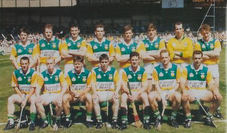 All Ireland Senior Hurling Championship - Final, .03.09.1995, 09.03.1995, 3rd September 1995, .03091995AISHCF, .Senior Clare v Offaly,.Minor Kilkenny v Cork,.Clare 1-13, Offaly 2-8, ..Offaly, David Hughes, St Rynagh's, Shane McGuckin, St Rynagh's, Kevin Kinahan, Martin Hanamy, St Rynagh's, Brian Whelehan, Birr, Hubert Rigney, St Rynagh's, Kevin Martin, Tullamore, Johnny Pilkington, Birr, Daithi Regan, Birr, Johnny Dooley, Seir Kieran, John Troy, Lusmagh, Michael Duignan, St Rynagh's, Billy Dooley, Seir Kieran, Pat O'Connor, Joe Dooley, .Subs, Jim Troy, Brendan Kelly, Declan Pilkington, PJ Martin Gary Cahill, Joe Errity, John Miller, Brian Hennessy, Paudie Mulhare,