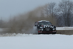 06.02.2014, Torsby, Hagfors, SWE, FIA, WRC, Schweden Rallye, Tag 2, im Bild Ott Tanak/Raigo Molder (M-Sport WRT/Fiesta RS WRC), Action / Aktion // during the FIA WRC Sweden Rally at the Torsby in Hagfors, Sweden on 2014/02/07. EXPA Pictures © 2014, PhotoCredit: EXPA/ Eibner-Pressefoto/ Bermel<br /> <br /> *****ATTENTION - OUT of GER*****
