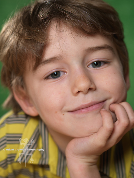 Portrait of boy (7 years old) smiling