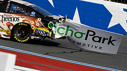 September 30, 2018 - Charlotte, NC, U.S. - CHARLOTTE, NC - SEPTEMBER 30: #37: Chris Buescher, JTG Daugherty Racing, Chevrolet Camaro Maple Cheerios with a piece of signage during the running of the Inagural Bank of America ROVAL 400 on Sunday September 30, 2018 at Charlotte Motor Speedway in Concord North Carolina  (Photo by Jeff Robinson/Icon Sportswire) (Credit Image: © Jeff Robinson/Icon SMI via ZUMA Press)
