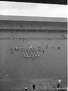 All Ireland Senior Football Championship Final, Kerry v Down, 25.09.1960, 09.25.1960, 25th September 1960, Down 2-10 Kerry 0-8,.General view of Parade, .Referee J Dowling (Offaly),.Captain K Mussen,.