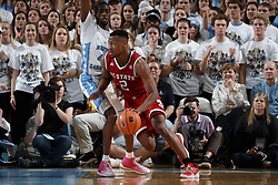 CHAPEL HILL, NC - JANUARY 27: Torin Dorn #2 of the North Carolina State Wolfpack dribbles the ball against the North Carolina Tar Heels on January 27, 2018 at the Dean Smith Center in Chapel Hill, North Carolina. North Carolina lost 95-91. (Photo by Peyton Williams/UNC/Getty Images) *** Local Caption *** Torin Dorn