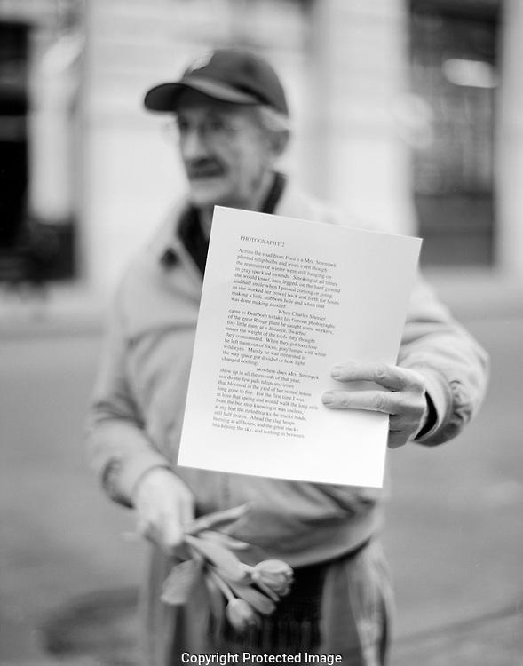 Phillip Levine, former United States Poet Laureate, Pulitizer Prize-winner, National Book Award-winner, and National Book Critics Circle Award-winner.