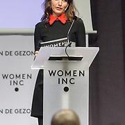 NLD/ALeiden/20160307 - Koningin Maxima bij bijeenkomst van Women Inc., Daphne Bunskoek