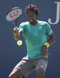 August 30, 2017 - Flushing Meadows, New York, U.S - Gael Monfils during his match on Day Three of the 2017 US Open with Jeremy Chardy at the USTA Billie Jean King National Tennis Center on Wednesday August 30, 2017 in the Flushing neighborhood of the Queens borough of New York City. Monfils defeats Chardy, 7-6(8-6), 6-3, 6-4. (Credit Image: © Prensa Internacional via ZUMA Wire)