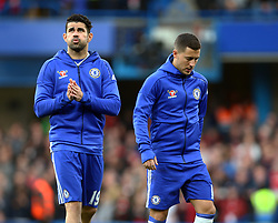 May 8, 2017 - London, England, United Kingdom - L-R Chelsea's Diego Costa and Chelsea's Eden Hazard during Premier League match between Chelsea and Middlesbrough at Stamford Bridge, London, England on 08 May 2017. (Credit Image: © Kieran Galvin/NurPhoto via ZUMA Press)