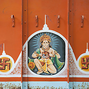Truck decoration at the fruit market in Kolkata, India