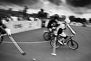 Images were taken during the 2014 Australasian Hardcourt Bike Polo Championships , held from March 28-30th at TEMPE Recreational Reserve, Holbeach Road Tempe.<br /> <br /> Hardcourt bike polo is based on the hundred year old sport of grass bike polo and was reinvented in the early 1990's for a modern urban setting. The sport has been active in Australia and New Zealand since 2006 and is now established in over 300 cities across America, Europe, South America and Asia and is still growing. <br /> <br /> The Australasian Championships is the largest and most significant hardcourt bike polo tournament in our region, attracting the best players from around Australia, New Zealand, and guests from Southeast Asia, Japan, USA and Europe. This was the sixth time the Australasian Hardcourt Bike Polo Championships has been held and the first time Sydney hosted it.<br /> <br /> The annual event aims to encourage more people to ride their bikes, promote open sports participation to all ages and demographics, to demonstrate alternative social based sports, to showcase the growth of hardcourt bike polo year-on-year and to provide a platform and a qualification process for the World Hardcourt Bike Polo Championships.