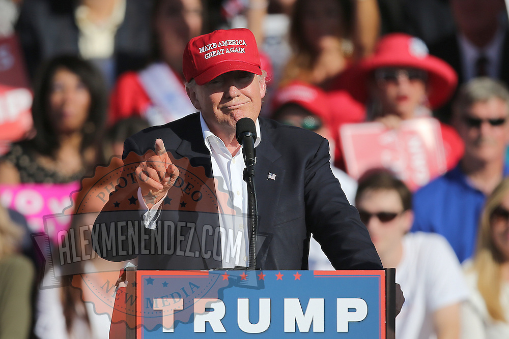 Republican presidential candidate Donald Trump campaigns at the Central Florida Fairgrounds in Orlando, Florida USA  02 Nov 2016