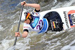 June 2, 2018 - Prague, Czech Republic - Elena Apel of Germany in action during the Women's C1 finals at the European Canoe Slalom Championships 2018 at Troja water canal in Prague, Czech Republic. (Credit Image: © Slavek Ruta via ZUMA Wire)