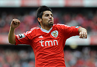 20120421: LISBON, PORTUGAL - Portuguese Liga Zon Sagres 2011/2012 - SL Benfica VS Maritimo<br /> In picture: Benfica's Nolito, from Spain, celebrates after scoring the opening goal against Maritimo.<br /> PHOTO: Alvaro Isidoro/CITYFILES