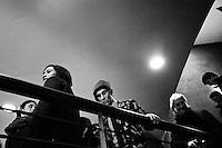 """Roma, Italia - 17 gennaio 2013:  Pierluigi Bersani ha incontrato i giovani, aprendo ufficialmente la campagna elettorale dei democratici a Roma, al Teatro Ambra Jovinelli, il 17 gennaio 2013. """"Le nostre forze sono in grado stavolta di battere la destra e per questo vinceremo"""", ha detto il segretario del Pd.ROME, ITALY - 17 JANUARY 2013: Pierluigi Bersani meets his young voters, thus officially starting the campaign of the Democratics, at the Jovinelli Theatre in Rome on January 17, 2013. """"Our strength can defeat the center-right. This is why we will win"""", Pierluigi Bersani said.<br /> <br /> A general election to determine the 630 members of the Chamber of Deputies and the 315 elective members of the Senate, the two houses of the Italian parliament, will take place on 24–25 February 2013. The main candidates running for Prime Minister are Pierluigi Bersani (leader of the centre-left coalition """"Italy. Common Good""""), former PM Mario Monti (leader of the centrist coalition """"With Monti for Italy"""") and former PM Silvio Berlusconi (leader of the centre-right coalition).<br /> <br /> ###<br /> <br /> ROMA, ITALIA - 17 GENNAIO 2013: Pierluigi Bersani incontra i giovani,  aprendo ufficialmente la campagna elettorale dei democratici, al Teatro Ambra Jovinelli di Roma il 17 gennaio 2013. """"Le nostre forze sono in grado stavolta di battere la destra e per questo vinceremo"""", ha detto il segretario del Pd.<br /> <br /> Le elezioni politiche italiane del 2013 per il rinnovo dei due rami del Parlamento italiano – la Camera dei deputati e il Senato della Repubblica – si terranno domenica 24 e lunedì 25 febbraio 2013 a seguito dello scioglimento anticipato delle Camere avvenuto il 22 dicembre 2012, quattro mesi prima della conclusione naturale della XVI Legislatura. I principali candidate per la Presidenza del Consiglio sono Pierluigi Bersani (leader della coalizione di centro-sinistra """"Italia. Bene Comune""""), il premier uscente Mario Monti (leader della coalizione di centro """"Con Monti"""