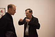 JEFF MCMILLAN; RICHARD TUTTLE, The Critical Edge, private view of work by Richard Tuttle,Pace,  London. 12 April 2017