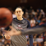 Breanna Stewart, UConn, warming up before the UConn Vs Cincinnati Quarterfinal Basketball game at the American Women's College Basketball Championships 2015 at Mohegan Sun Arena, Uncasville, Connecticut, USA. 7th March 2015. Photo Tim Clayton