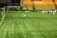 GOAL 1-0 Scott Pittman of Livingston scores his sides first goal of the match during the Scottish Premiership match between Livingston and Dundee United at Tony Macaroni Arena, Livingston, Scotland on 5 December 2020.