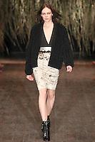 Kinga Rajzak walks down runway for F2012 Altuzarra's collection in Mercedes Benz fashion week in New York on Feb 10, 2012 NYC's