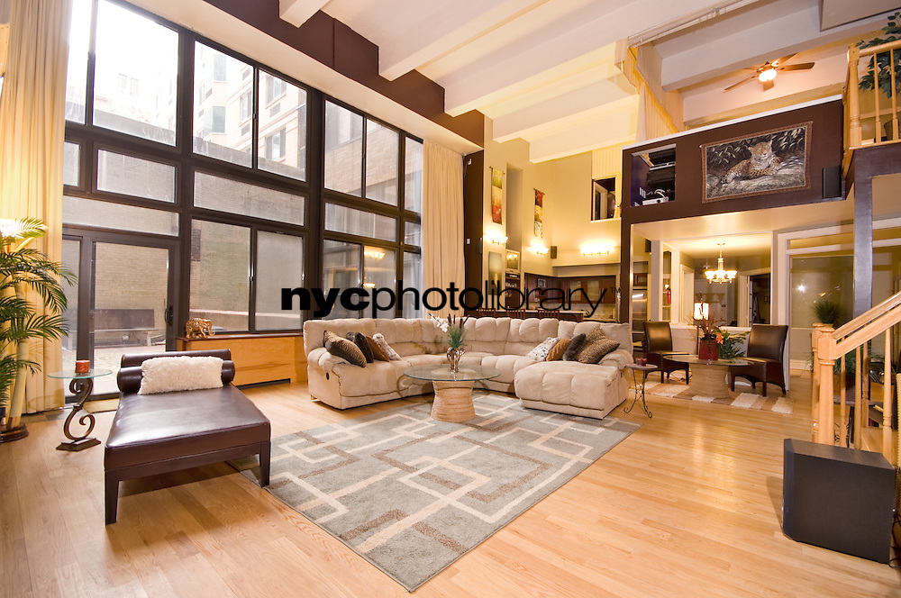 Living Room at 536 West 43rd Street