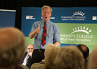 Tom Steyer answers questions during the Presidential Candidate Forum held at Lakes Region Community College on Thursday afternoon.  (Karen Bobotas/for the Laconia Daily Sun)