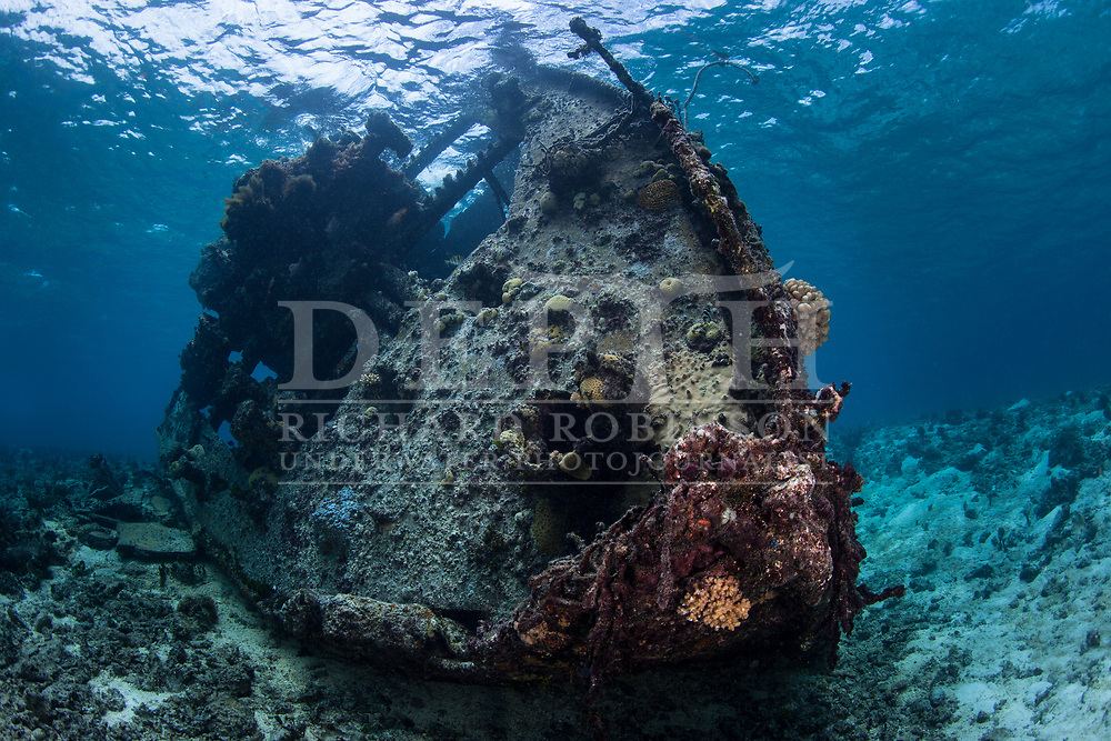 Wreck of the  Coomondeery a 132-tonne, 110- foot steamship, later converted to diesel auxiliary in Australia,  was wrecked on North Minerva Reef in 1969. <br /> Sunday 18 January 2015<br /> Photograph Richard Robinson © 2015