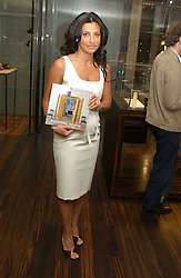 ELLA KRASNER at a party to celebrate the publication of 'The Russian House' by Ella Krasner held at De Beers, 50 Old Bond Street, London W1 on 9th June 2005.<br /><br />NON EXCLUSIVE - WORLD RIGHTS