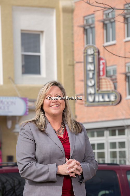 Editorial photography of Kalene Griffith at the Bentonville Square for AY Magazine's Powerful Women.<br /> <br /> Photo by Beth Hall