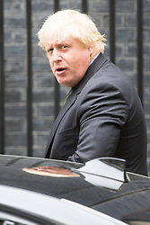 Downing Street, London, September 9th 2016.  Foreign and Commonwealth Secretary Boris Johnson arrives at Downing street for the weekly cabinet meeting following the Parliamentary summer recess.