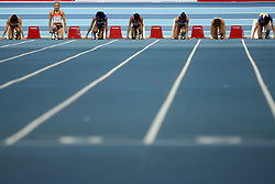 Verena Sailer of Germany (2nd from L) at the qualification of 60m women at the 2nd day of  European Athletics Indoor Championships Torino 2009 (6th - 8th March), at Oval Lingotto Stadium,  Torino, Italy, on March 6, 2009. (Photo by Vid Ponikvar / Sportida)