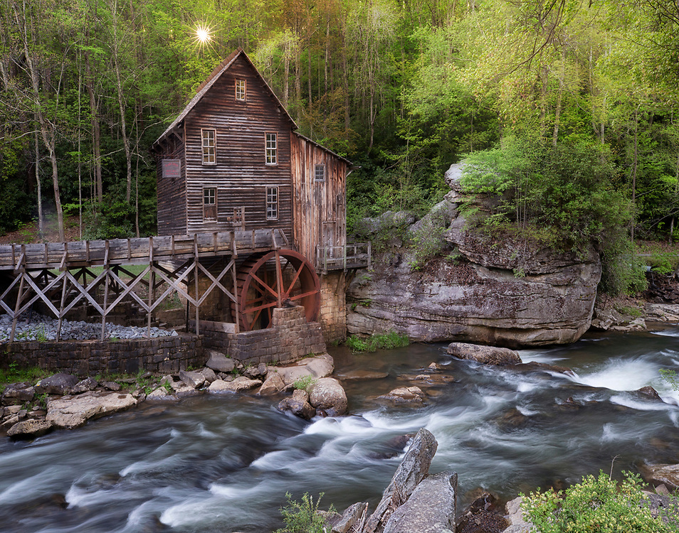 """Glade Creek Grist Mill - Babcock State Park <br /> <br /> Available sizes:<br /> 11"""" x 14"""" print <br /> <br /> See Pricing page for more information. Please contact me for custom sizes and print options including canvas wraps, metal prints, assorted paper options, etc. <br /> <br /> I enjoy working with buyers to help them with all their home and commercial wall art needs."""