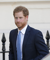 Prince Harry arriving at the Institute of Contemporary Art in London where he and the Duke and Duchess of Cambridge were outlining the next phase of their mental health Heads Together campaign.