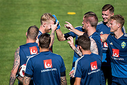 July 4, 2018 - Gelendzhik, Russia - 180704 Filip Helander of the Swedish national football team  gets a nose punch from his team mates at a practice session during the FIFA World Cup on July 4, 2018 in Gelendzhik..Photo: Petter Arvidson / BILDBYRN / kod PA / 92081 (Credit Image: © Petter Arvidson/Bildbyran via ZUMA Press)
