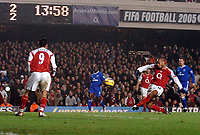 Photo: Javier Garcia/Back Page Images<br />Arsenal v Chelsea, FA Barclays Premiership, Highbury 12/12/04<br />With the scores poised at 2-2 Thierry Henry blazes over from 8 yards out