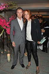 MR CHARLES & LADY LOUISE VAUGHAN at a party hosted by Ewan Venters CEO of Fortnum & Mason to celebrate the launch of The Cook Book by Tom Parker Bowles held at Fortnum & Mason, 181 Piccadilly, London on 18th October 2016.
