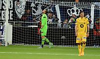 Fotball , 26. september 2015 ,   Eliteserien , Tippeligaen <br /> Strømsgodset - Bodø/Glimt<br /> <br /> Pavel Londak , Glimt depper etter tabbe