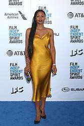 February 23, 2019 - Santa Monica, CA, USA - LOS ANGELES - FEB 23:  Emayatzy Corinealdi at the 2019 Film Independent Spirit Awards on the Beach on February 23, 2019 in Santa Monica, CA (Credit Image: © Kay Blake/ZUMA Wire)