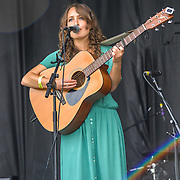 London, UK. 21th July, 2019. Izzie Yardley performs at the Lambeth Country Show 2019 a peaceful family festival with live music food & drinks, Arts and Culture and animal show at Brockwell Park, London.