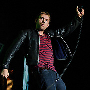 FAIRFAX, VA - October 11th, 2010: Damon Albarn brings Gorillaz, his cartoon band, to the Patriot Center on the George Mason Unversity campus. The show included guest stars like De La Soul, Mos Def and Bobby Womack. (Photo by Kyle Gustafson/For The Washington Post)