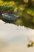 Rowboat in river