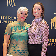 NLD/Utrecht/20181001 - NFF 2018, Première Rafaël, schrijfster Christine Otten en dochter