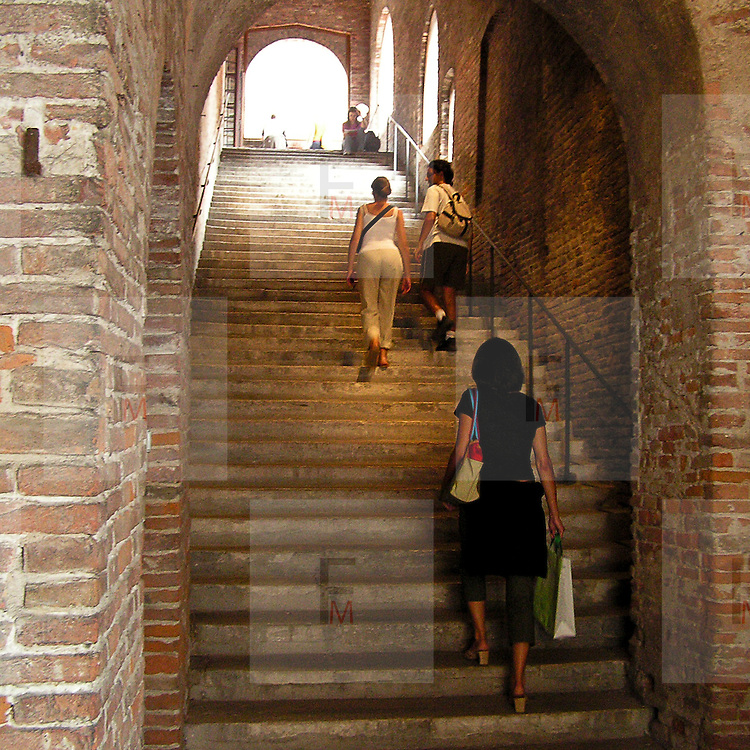 Festivaletteratura offers five days of readings, meetings with writers and shows. Since 1997 Festivaletteratura has become a regular rendez-vous for book lovers to meet writers, and actors in the piazzas and streets of Mantua.<br /> <br /> The stairs of ducal Palace.